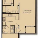 Ansley: 1x1; 800 square feet