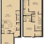 Kensington: 2x2; 1,345 square feet